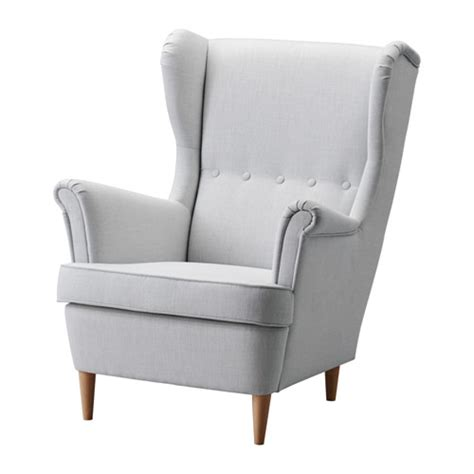 strandmon wing chair nordvalla light grey ikea