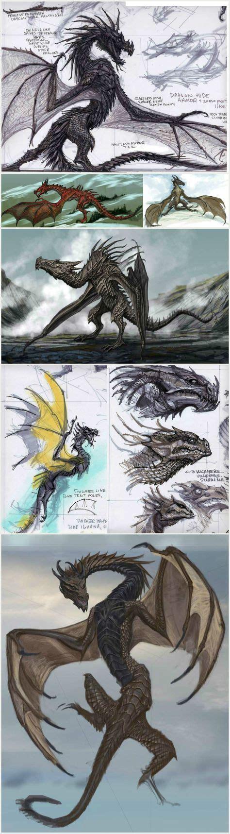 The Elder Scrolls V Skyrim Dragon Concept Art By The