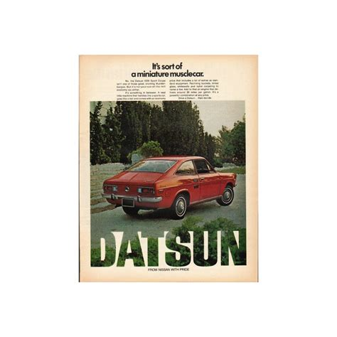 Datsun Models By Year by 1972 Datsun Vintage Ad Quot Miniature Musclecar Quot Model Year