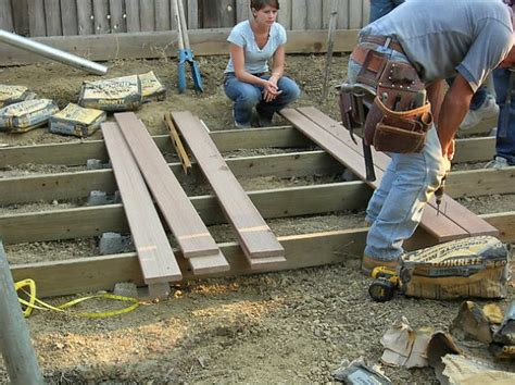 Pressure Treated Deck Boards Gap by How To Build A Floating Deck How Tos Diy