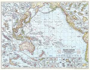 Pacific Ocean Map Oceans Map Archive Wall Maps
