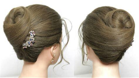 simple bun hairstyle  long hair tutorial juda style