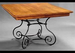 Table Bois Et Fer : table basse carre fer forge ~ Premium-room.com Idées de Décoration