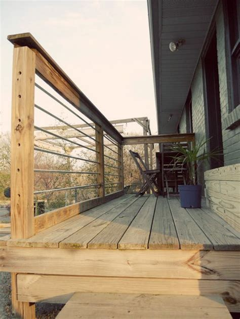 metal deck railing deck railings  railings  pinterest