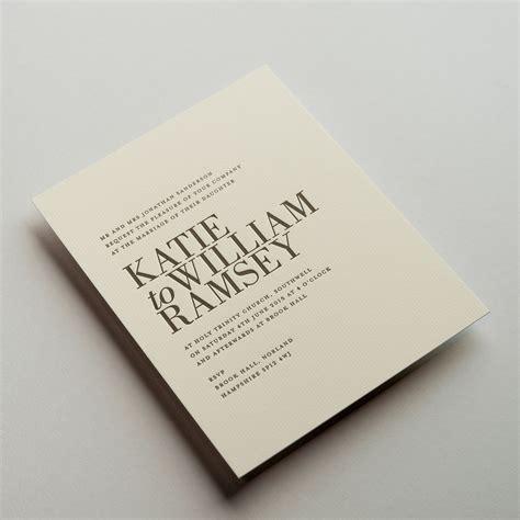 ramsey wedding invitations wedding stationery