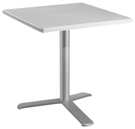 euromobilia 24 inch square white top dining table modern