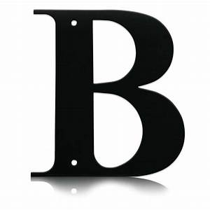 Wrought iron letter b for House letter b