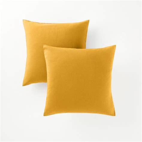 housse de coussin de canap housse de coussin jaune