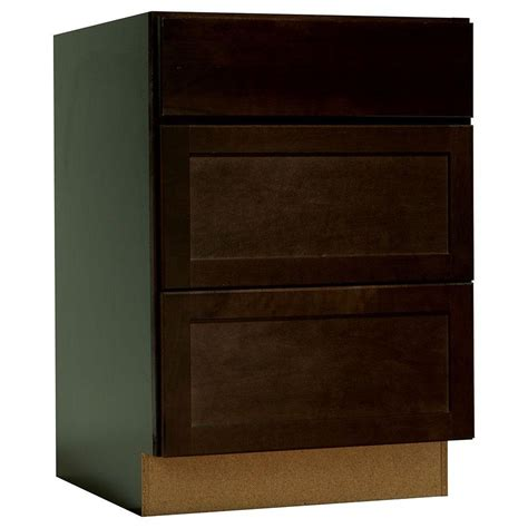 Cabinet Drawer Glides by Hton Bay 24x34 5x24 In Shaker Drawer Base Cabinet With