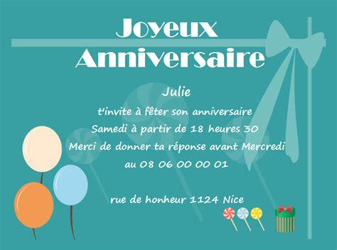 modele de carte de voeux pour anniversaire mod 232 les de carte d invitation d anniversaire gratuits 224