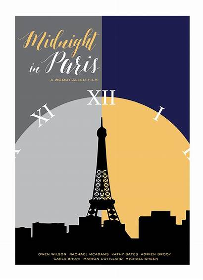 Paris Midnight Poster Graphic Behance