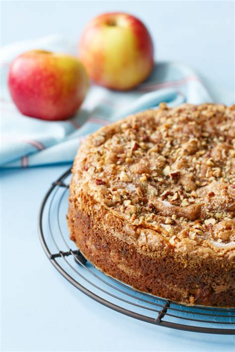 You can make this apple coffee cake with sour cream the day before you serve it and store it on the counter in an airtight container. Apple Sour Cream Coffee Cake   Love and Olive Oil