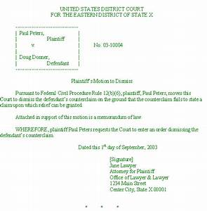 Beautiful court motion template gallery resume ideas for Template for motion to dismiss