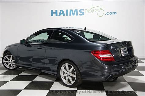 C250 2dr coupe (1.8l 4cyl turbo 7a), c350 4matic 2dr coupe awd (3.5l 6cyl 7a), c350 2dr coupe (3.5l 6cyl 7a), and c63. 2013 Used Mercedes-Benz C-Class 2dr Coupe C250 RWD at Haims Motors Serving Fort Lauderdale ...