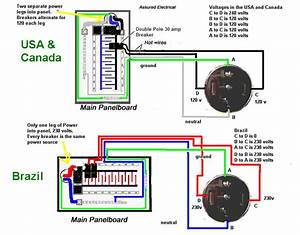 A Single Phase 240 Volt Breaker Wiring Diagram