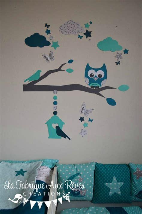 stickers chambre bebe garcon stickers hibou chouette décoration chambre enfant bébé