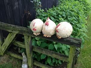 Hühner Aus Beton : handgemaakte keramiek kippen op stok keramiek ~ Articles-book.com Haus und Dekorationen