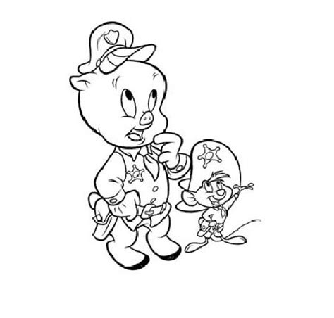 Porky Pig Coloring Pages at GetColorings com Free