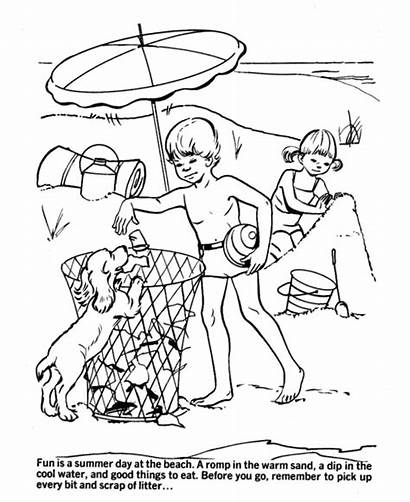 Coloring Pages Earth Beach Environmental Printable Environment