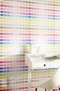Papier Peint Ado : papier peint chambre enfant gamme couleur castorama ~ Dallasstarsshop.com Idées de Décoration