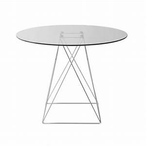 Tisch Rund 100 Cm : moderner tisch rund tischplatte aus glas 100 cm ~ Whattoseeinmadrid.com Haus und Dekorationen