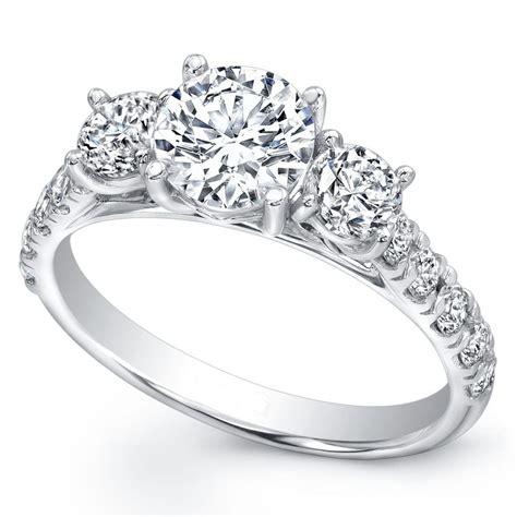 3 Stone Diamond Engagement Rings  Wedding, Promise