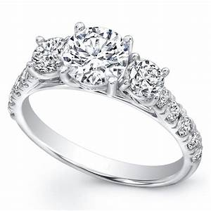 3 stone diamond engagement rings wedding promise With 3 stone wedding ring