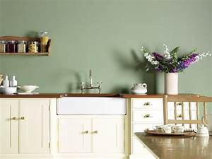 Green kitchen units sage green paint colors for kitchen for Kitchen colors with white cabinets with wagon wheel wall art