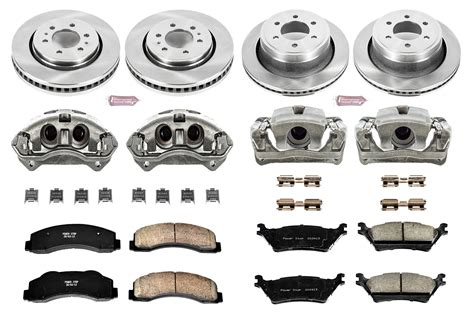 kitchen cabinets on wheels power stop kcoe6268 oe brake kit w calipers jegs 6268