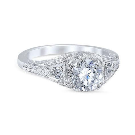 Vintage Style Floral Burst Die Struck .70cttw Diamond
