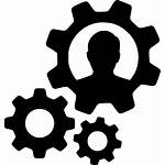 Icon Cogs Gears Person Management Productivity User