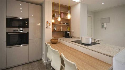 cocina blanca madera moderna ikea   decoracion