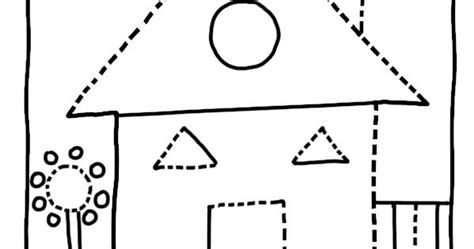 house shape coloring pages dot  dots gif