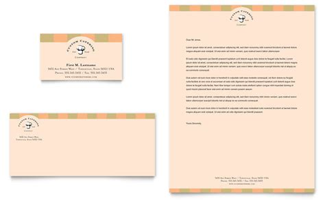 catering company business card letterhead template
