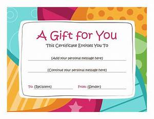 birthday gift certificate template free printables With free downloadable gift certificate templates
