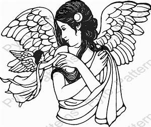pyrography wood burning angel pattern printable stencil With wood burning templates free download