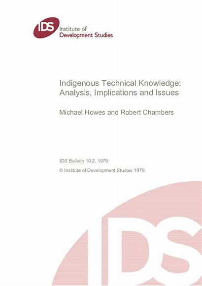 Knowledge Technical Indigenous Implications Issues Analysis Academia