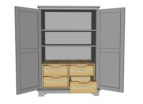 ana white toy  tv armoire drawer insert diy projects