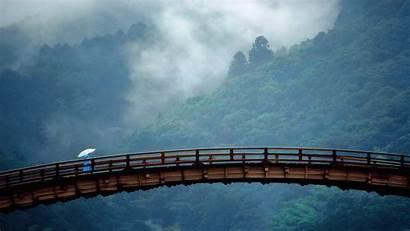 Japan Landscapes Bridge Yamaguchi Kintai Prefecture Landscape