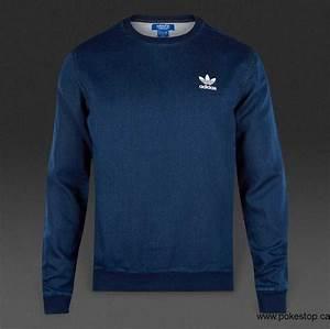 Spring/Summer 2018 adidas Originals FTD Crew Top - Mens Clothing - Medium Blue Denim