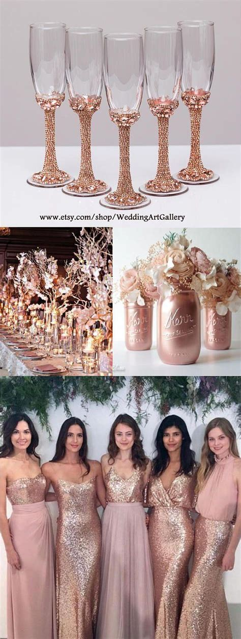 Wedding Theme 22 Rose Gold Quinceanera Decorations