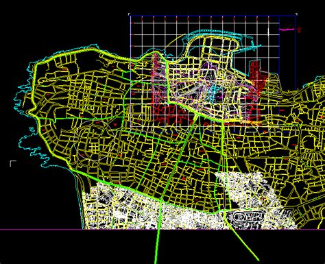 map  beirut dwg block  autocad designs cad