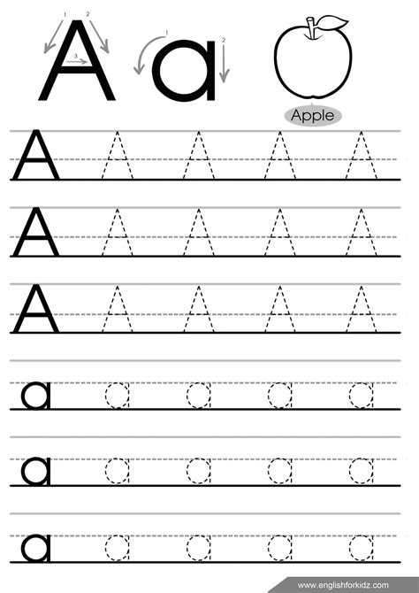 Letter Tracing Worksheets (letters A J