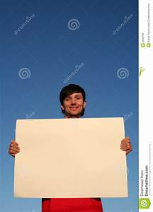 Man Holding Blank Poster Board Royalty Free Stock Photos ...