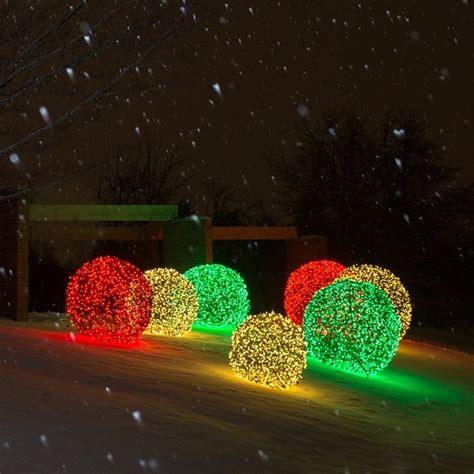 led light balls illuminate outdoor spaces transitional