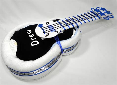 guitar diaper cake personalized baby gift baby  baby