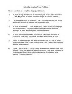 math scientific notation worksheets scientific notation worksheetsadd subtract multiply and - Scientific Notation Word Problems Worksheet