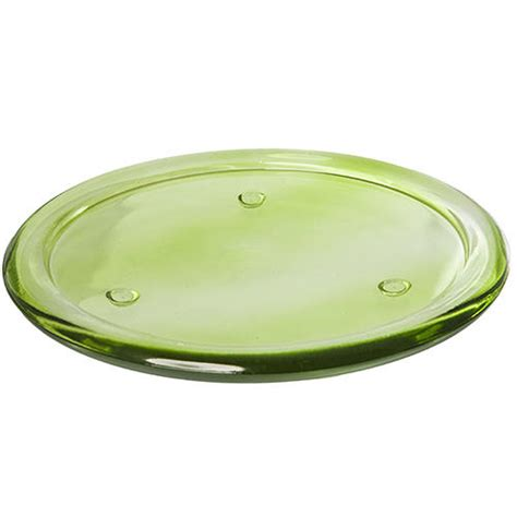 pillar candle plate vibrant coloured glass pillar candle plate plant 5138