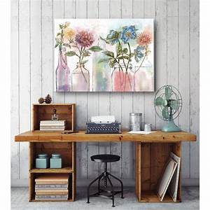 In quot flower glass jar canvas wall art web