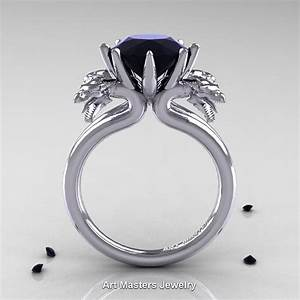 norwegian 14k white gold 30 carat black diamond dragon With dragon wedding rings